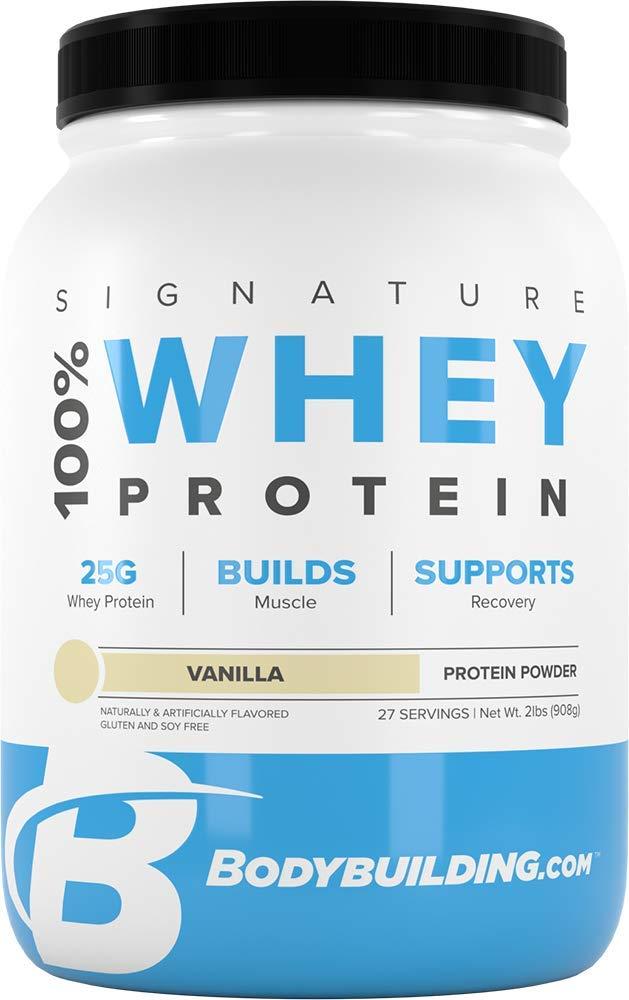 Bodybuilding Signature 100% Whey Protein Powder | 25g of Protein per Serving (Vanilla, 2 Lbs)