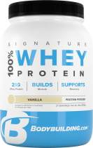 Bodybuilding Signature 100% Whey Protein Powder | 25g of Protein per Serving (Vanilla, 2 Lbs)