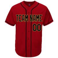 Pullonsy Scarlet Custom Baseball Jersey for Men Women Youth Button Down Stitched Your Name & Numbers S-8XL - Design Your Own