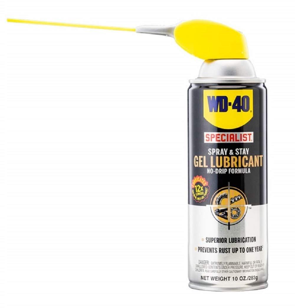 WD-40 Specialist Spray and Stay Gel Lubricant No-Drip Formula with SMART STRAWSPRAYS 2 WAYS, 10 OZ [6-Pack]