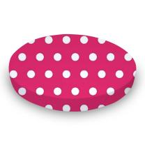 SheetWorld Fitted Oval Crib Sheet (Stokke Sleepi) - Polka Dots Hot Pink - Made In USA