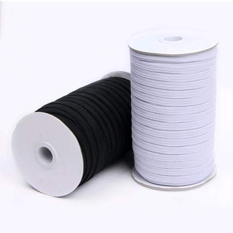 Elastic Flat Garter Rubber Band Waist Band Stretchable Rope For Sewing Crafts
