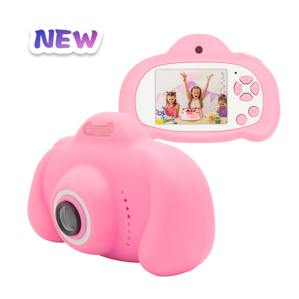 Kids Camera,MERLINAE Children Digital Rechargeable Video Toddler Educational Toys,Mini Child 2 inch Screen Support 1080P HD Recorder Toy,Great Gift for 3-12 Year Old Boys Girls Pink