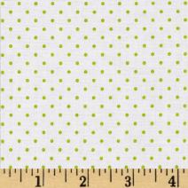 Riley Blake Designs Swiss Dot On, Yard, White Lime