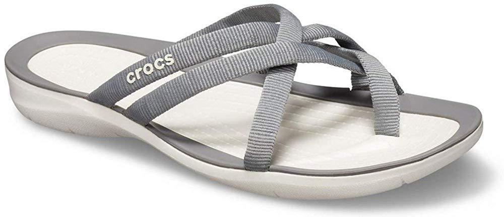 Crocs Women's Swiftwater Webbing Flip Slide Sandal