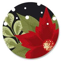 Poinsettia Border Christmas Envelope Seals - Set of 72 Holoiday Envelope Stickers