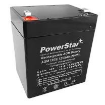 PowerStar High Rate 12V 5AH UPS Battery Replaces Vision CP1250, CP 1250