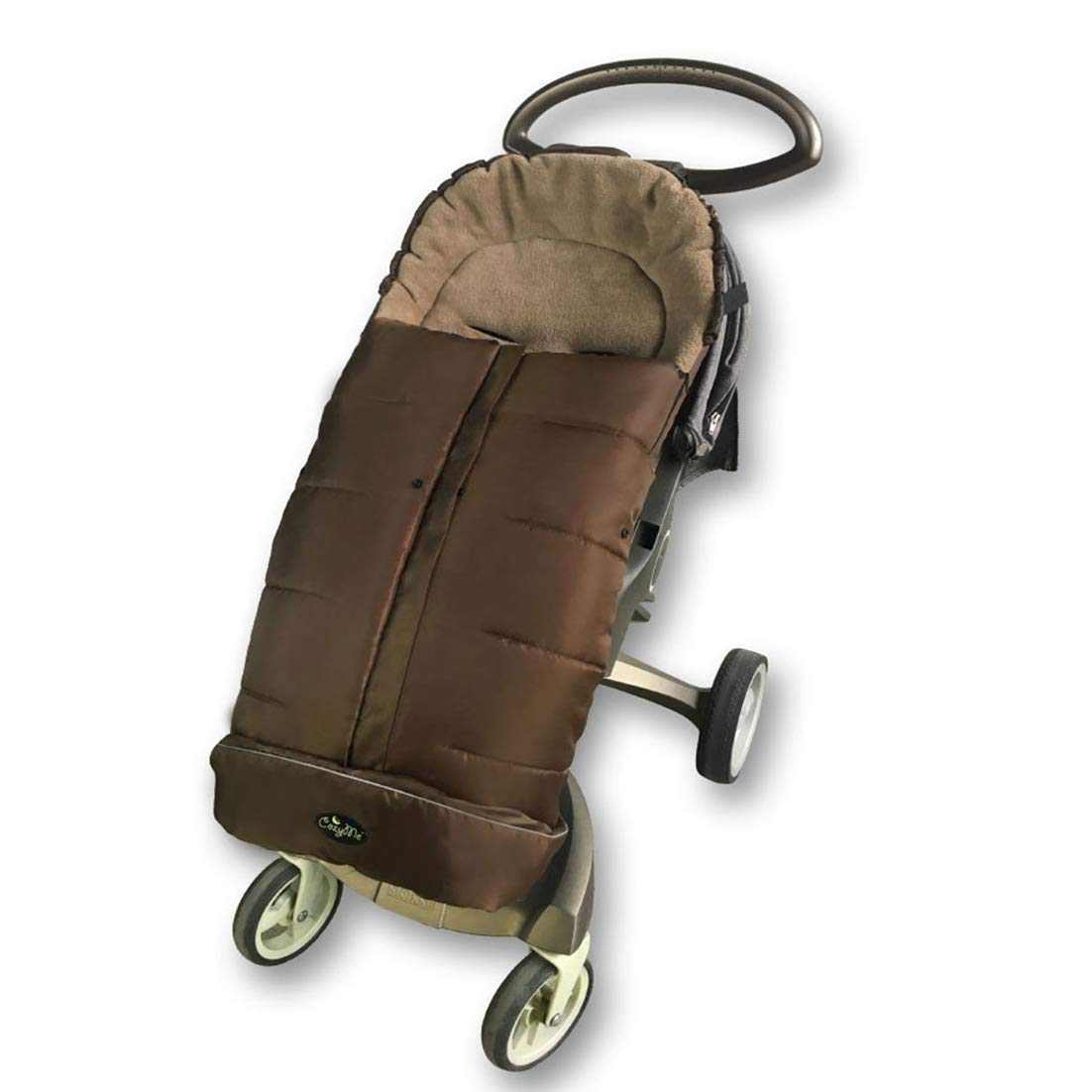 Warm Cuddly Weather Resistant Baby Stroller Footmuff Fits Most of Pushchair and Joggers,Central Open,Height Adjustable,100% Safe CPC Tested Toddler Stroller Bunting Bag-Coffee