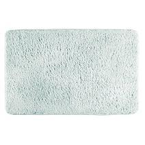 "mDesign Soft Microfiber Polyester Non-Slip Rectangular Fuzzy Mat, Extra-Plush Water Absorbent Accent Rug for Bathroom Vanity, Bathtub/Shower, Machine Washable - 34"" x 21"" - Light Aqua Blue"