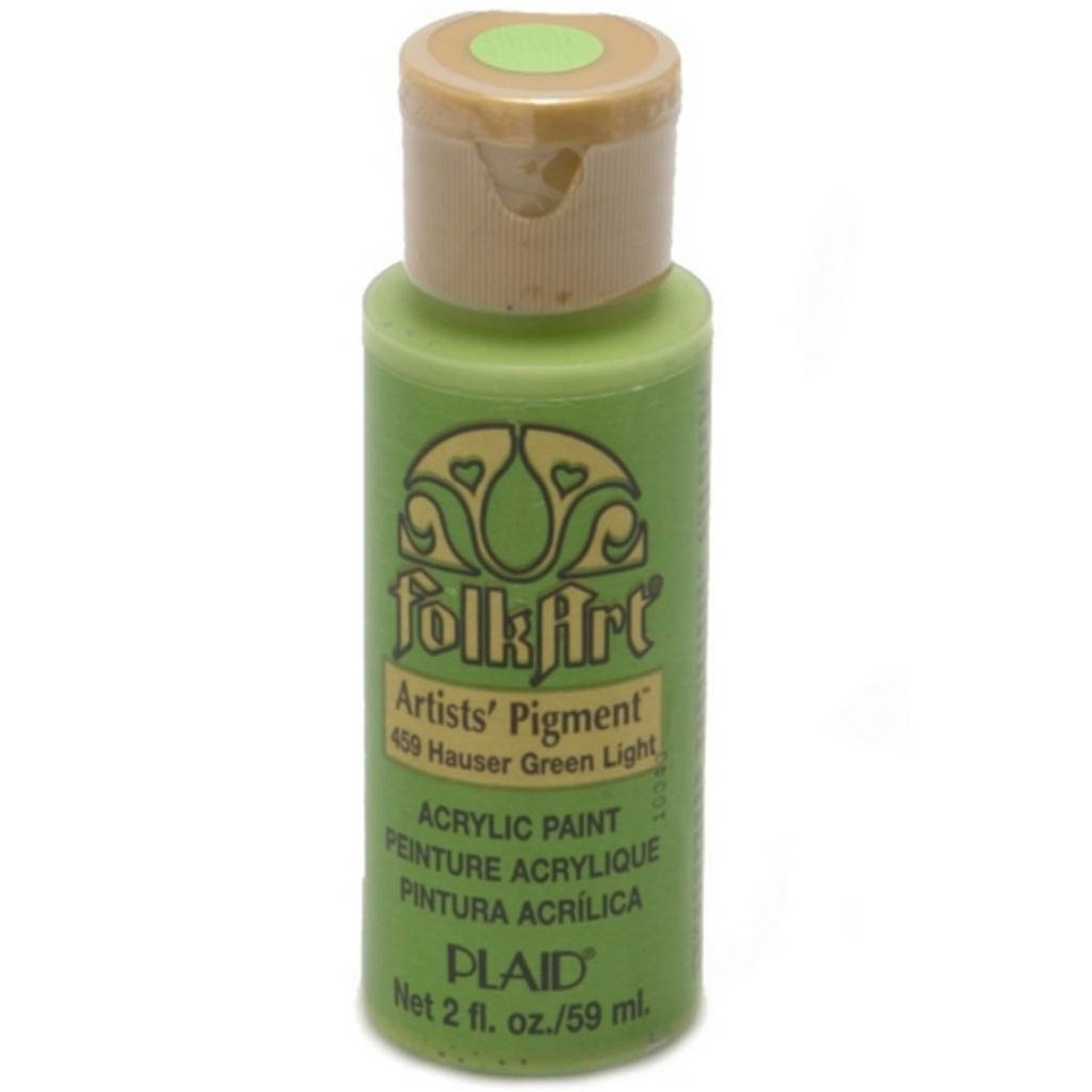 FolkArt Acrylic Paint in Assorted Colors (2 oz), 459, Hauser Green Lt