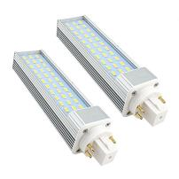 Bonlux 2-pack LED GX24Q 4-pin Rotatable PL Lamp, 26W GX24 CFL Replacement, 180 Degree Beam Angle Daylight 6000k LED PL-C Horizontal Recessed G24Q Bulb (Remove/bypass the Ballast)