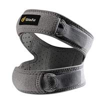 Glofit Patella Knee Strap, Patellar Tendon Support Strap with 3mm Silica Pad and Adjustable Neoprene Double Strap for Extra Support, Stability and Knee Pain Relief, for Running, Arthritis, Jumper