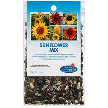 Sunflower Wildflower Seeds Mix Bulk Open-Pollinated Wildflower Seed Mix Packets, Non-GMO, No Fillers, Annual, Perennial Wildflower Seeds, Year Round Planting - 1 oz