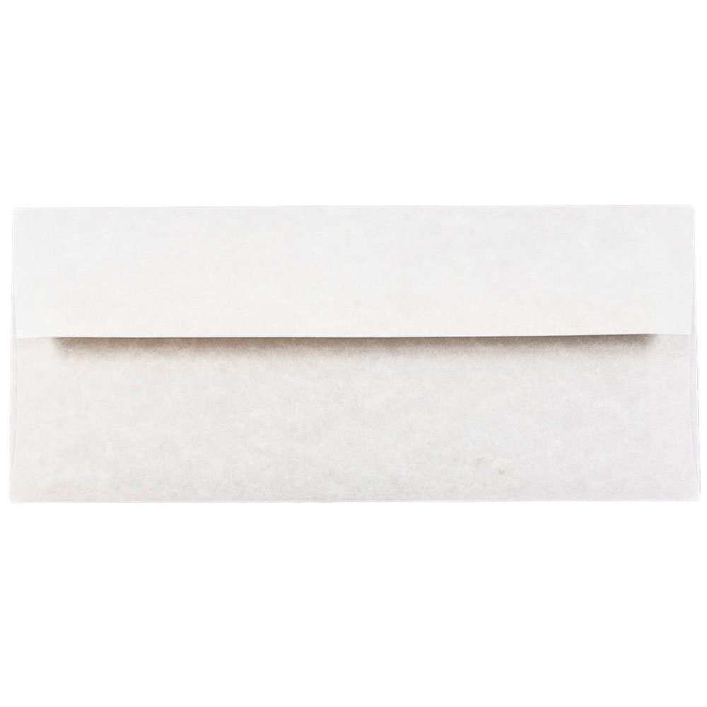 JAM PAPER #10 Business Parchment Envelopes - 4 1/8 x 9 1/2 - Pewter Gray Recycled - 25/Pack