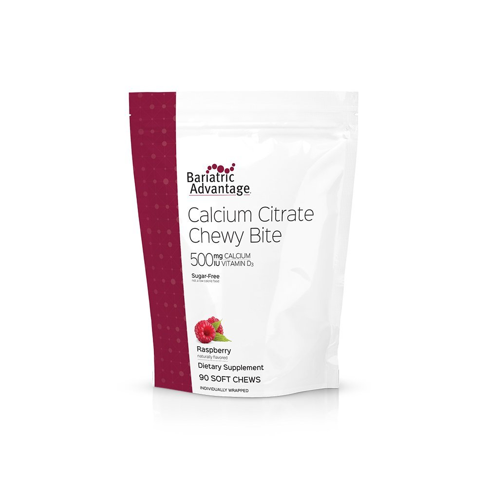 Bariatric Advantage - Calcium Citrate Chewy Bites 500mg (Raspberry)