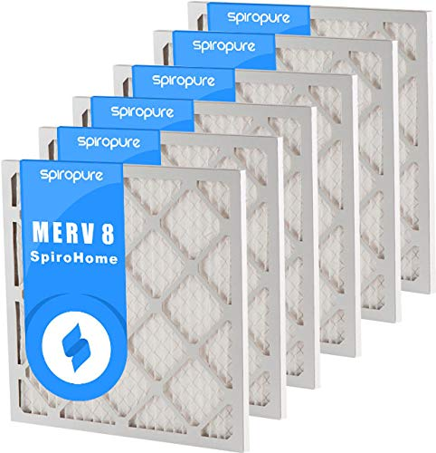 SpiroPure 29.5x29.5x1 MERV 8 Pleated Filter Air Filters - Made in USA (6 Pack)