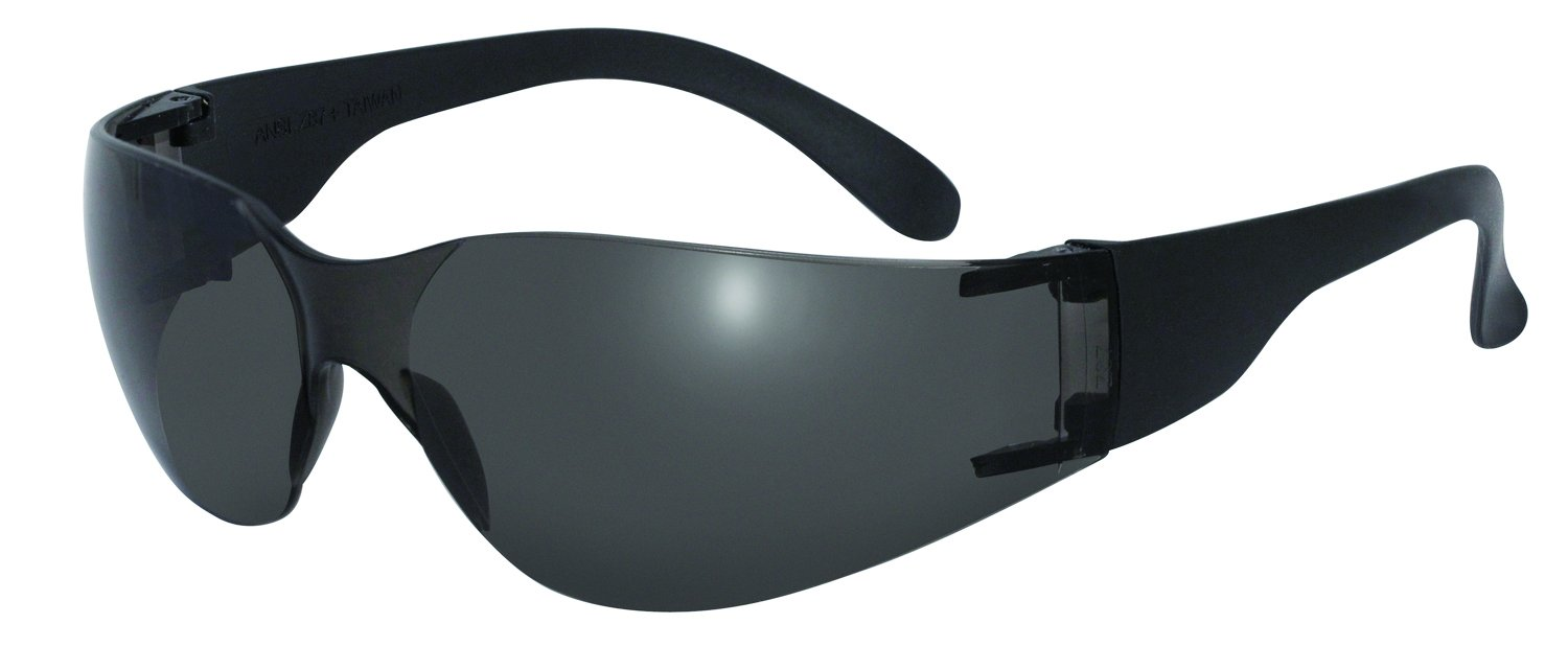 SSP Eyewear Recyclable Safety Glasses with Smoked Lenses/Black Temples, PRO SM A/F