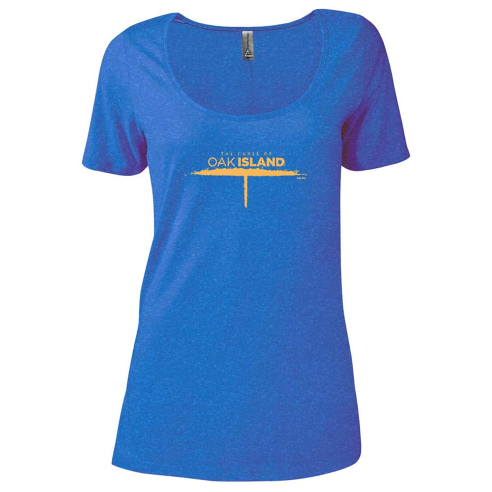 HISTORY The Curse of Oak Island Women's Relaxed Scoop Neck T-Shirt