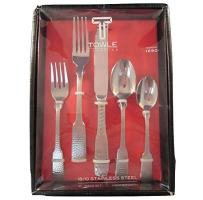 Towle Hammersmith 18/10 Stainless Steel 45 Piece Flatware Set - Service for 8