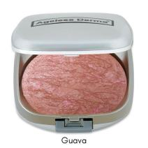 Ageless Derma Baked Mineral Makeup Healthy Blush with Botanical Extracts (Guava Swirl) Made in USA. Highlighter Makeup