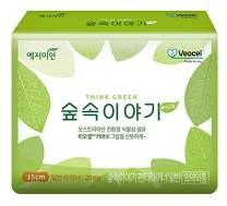 [YEJIMIIN] Sanitary Pads VEOCEL, Organic Material from Eucalyptus, Eco-Friendly Vegetable Fiber (Liner 6inch, 20 Counts per 1 Pack) (40) VEOCEL Liner *2