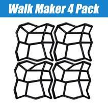 "CJGQ 4Pack 13.4""x13.4""x1.42"" Walk Maker Reusable Concrete Path Maker Molds Stepping Stone Paver Lawn Patio Yard Garden DIY Walkway Pavement Paving Moulds (Irregular)"