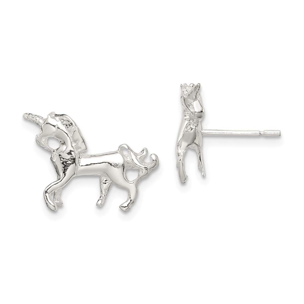925 Sterling Silver Unicorn Mini Post Stud Earrings Ball Button Animal Horse Fine Mothers Day Jewelry For Women Gifts For Her