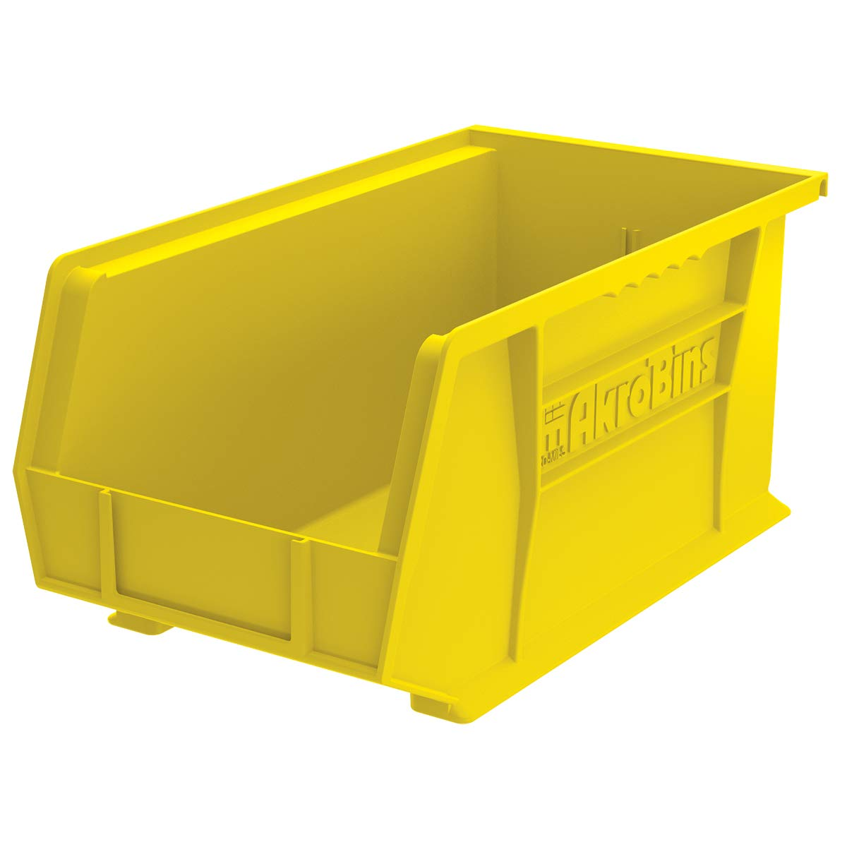 Akro-Mils 30240 AkroBins Plastic Storage Bin Hanging Stacking Containers, (15-Inch x 8-Inch x 7-Inch), Yellow, (12-Pack)