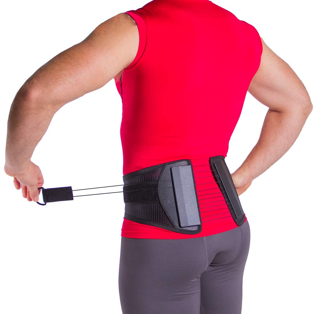 Spine Sport Back Brace - Best Active Lumbar Support for Athletic Use, Exercise, Walking, Working Outside, Walking, Driving, Golf, Fishing, Nurses, and Police (M)