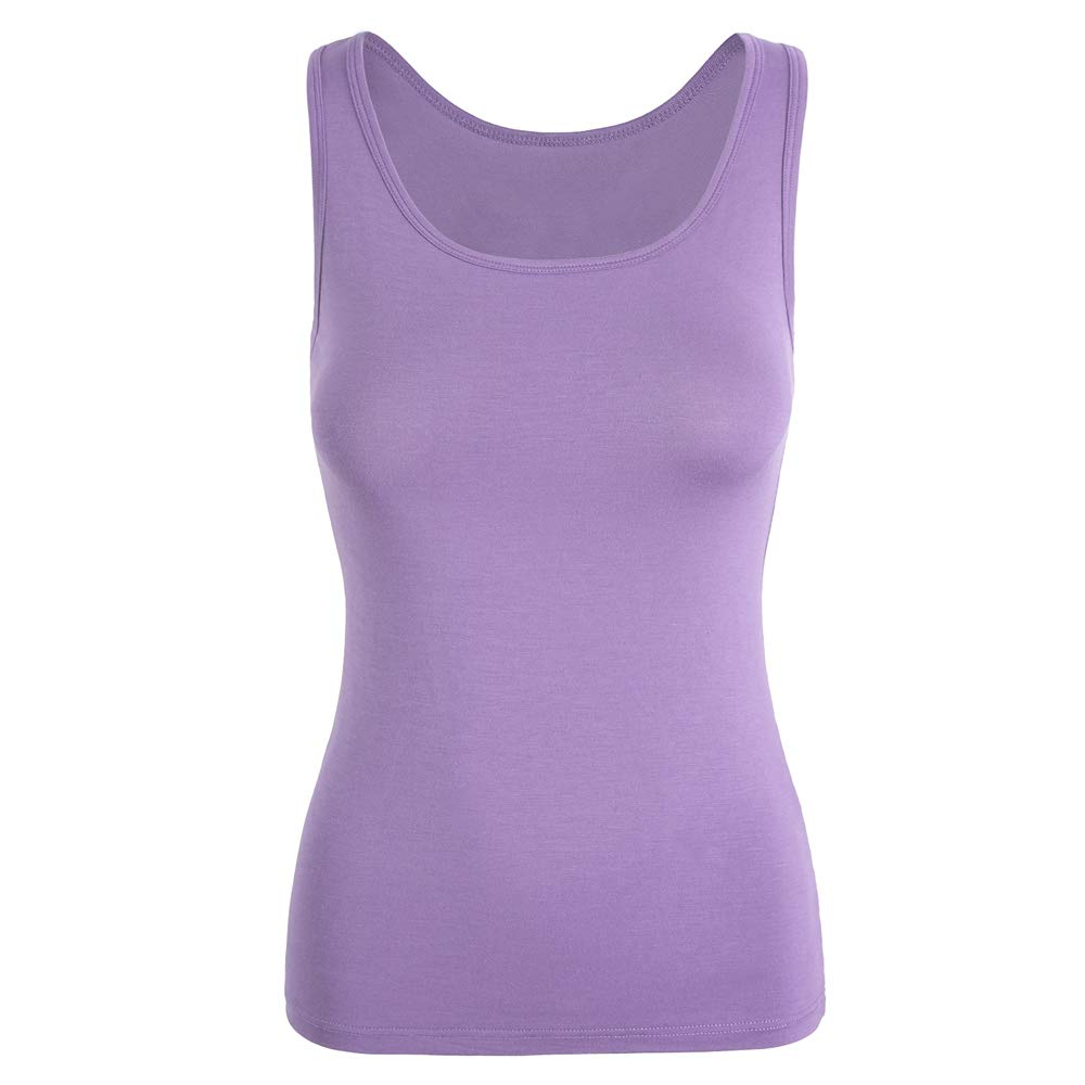 TAIPOVE Tank Tops for Women Camisole with Built in Shelf Bra Stretch Undershirt Basic Layering Cami 1/3 Pack