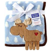 Hudson Baby Unisex Baby Plush Blanket, Blue Deer, One Size