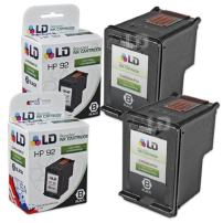LD Remanufactured Ink Cartridge Replacement for HP 92 C9362WN (Black, 2-Pack)