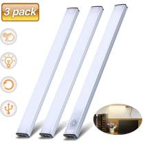 LED Cabinet Light, SOLMORE LED Under Cabinet Lighting Touch Control Dimmable Closet Light Under Counter Light Strips for Kitchen Counter,Closet,Shelf Lights12W 1200 Lumen, 4500K,3 Pcs Light Bars