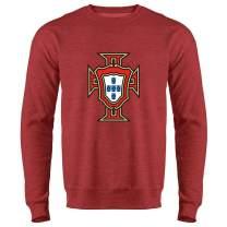 Portugal Soccer National Team Football Retro Crest Crewneck Sweatshirt for Men