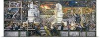 """GREATBIGCANVAS Entitled Detroit Industry, North Wall, 1932-33 Poster Print, 72"""" x 29"""", Multicolor"""