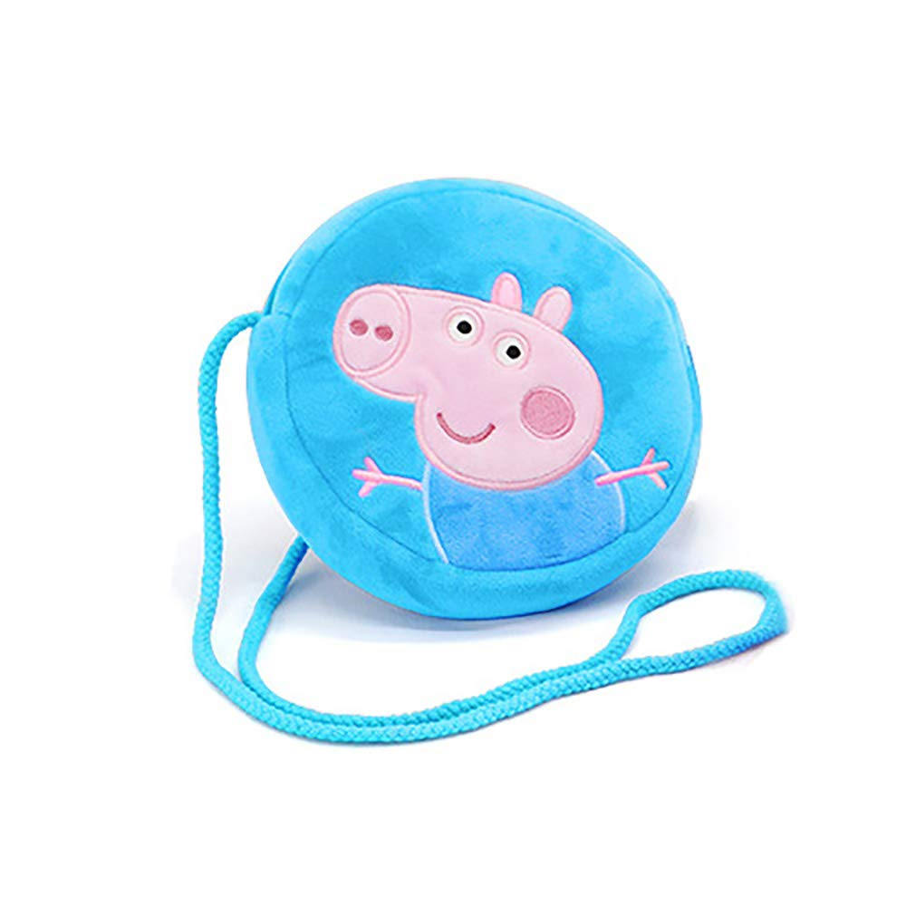 EIIORPO Cartoon Peppa Pig Purse Soft and Lovely Crossbody Bags for Girl and Boys Holiday Gift, Key Bag and Mobile Phone Bag Shoulder Bag, Peppa Pig Accessories. (George) …