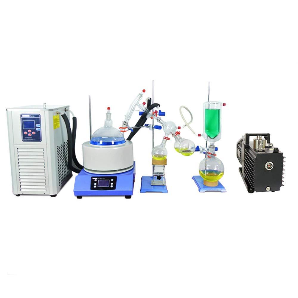 HNZXIB 2L Lab Glass Path Fractional Kit Equipment Short Path Distillation