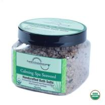 Bath Salts, Organic and Vegan, French Sea Salt, Enriched with Seaweed, Peppermint and Rosemary Oil, Detoxifies and Soothes Sore Muscles and Inflammation, Perfect Gift, 16 oz