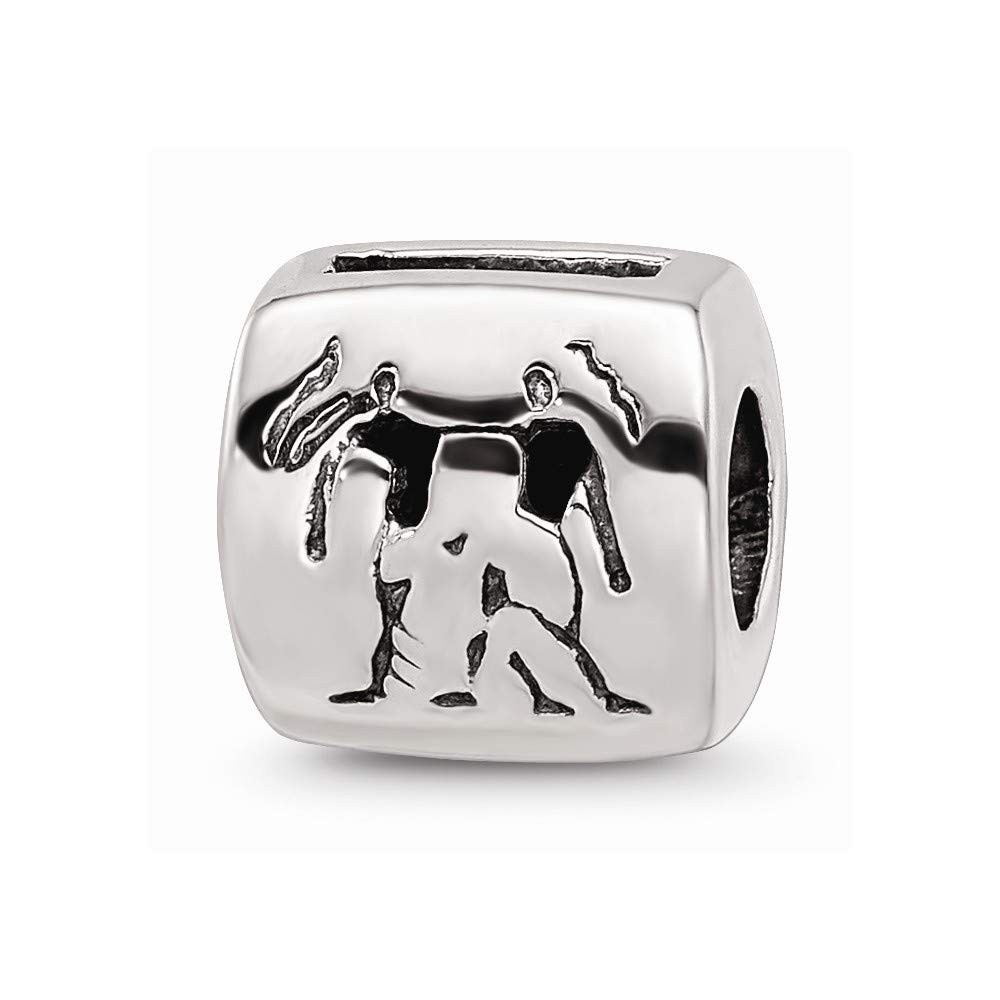 925 Sterling Silver Charm For Bracelet Gemini Zodiac Bead Fine Jewelry For Women Gifts For Her