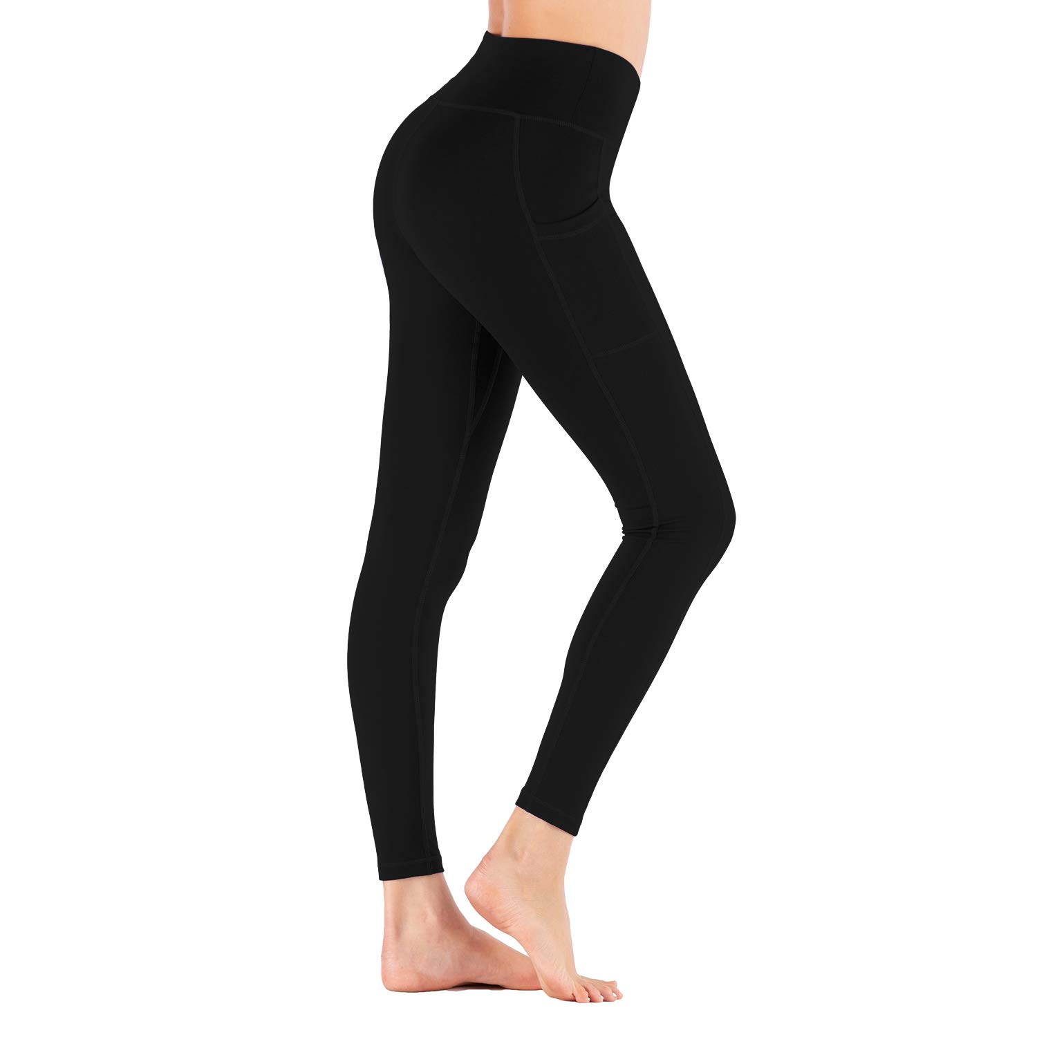 Aro Lora Womens Yoga Leggings - High Waist Tummy Control Footless Workout Running Tights Pants with Pockets