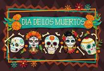 Baocicco Polyester 5x3ft Backdrop for Dia de Los Muertos Photography Background for Day of The Dead White Skulls Flowers Mexican Skeleton Bones Birthday Party Banner Portrait Mexico Fiesta Props