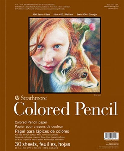 """Strathmore 400 Series Colored Pencil Pad, 18""""x24"""" Wire Bound, 30 Sheets"""