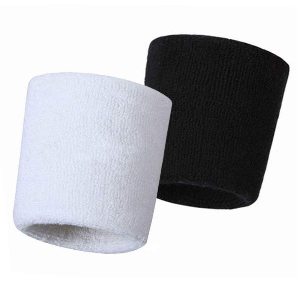 HANERDUN Wrist Sweatbands Thick Cotton Terry Cloth Wristbands for Men and  Women Athletic Sweat Bands for Sports Tennis Gym Basketball