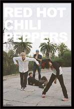 """Trends International Red Hot Chili Peppers - Band, 22.375"""" x 34"""", Black Framed Version"""