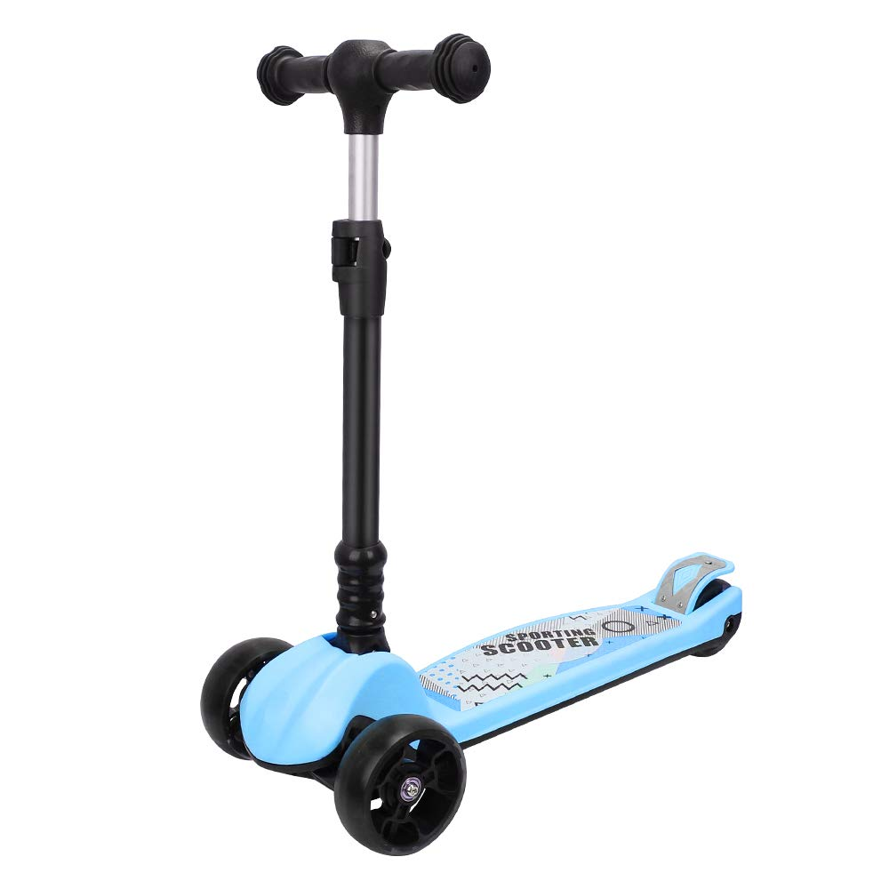 Yoleo Toddler Scooter Lean 2 Turn 3 Wheel Kids Scooter Adjustable Height with PU Flashing Wheels Kick Scooter for Kids Girls Boys Children