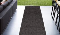 """Cozy Shag Collection Charcoal Grey Solid Shag Rug (2'0""""X4'11"""") Contemporary Living and Bedroom Soft Shaggy Runner Rug"""