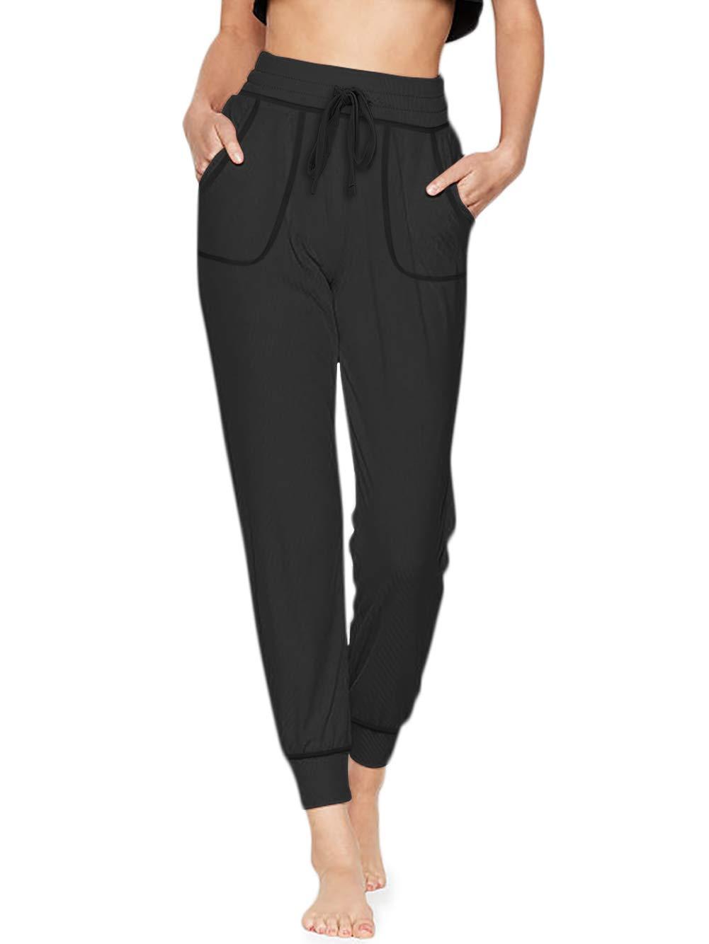 TAIPOVE Women's Jogger Pants with Pockets Drawstring Waist Lounge Sweatpants Active Yoga Sweat Pants