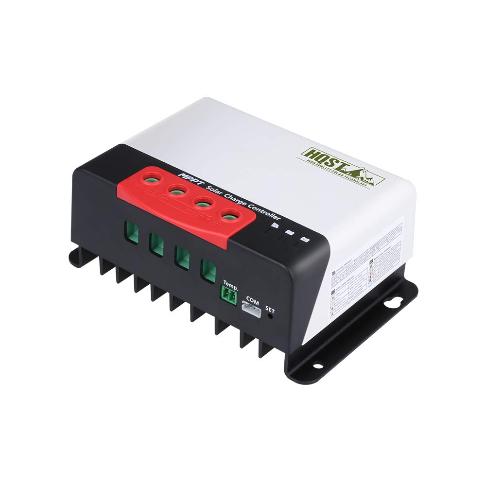 HQST 20A 12/24V MPPT Solar Charge Controller, Compatible with Sealed, Gel, Flooded, Lithium, User Defined Batteries