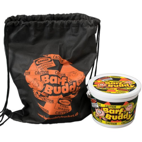 """BARF BUDDY The Funny Kids Novelty Bucket and Travel Bag/Backpack Leak and Odor Proof Vomit Container"""""""