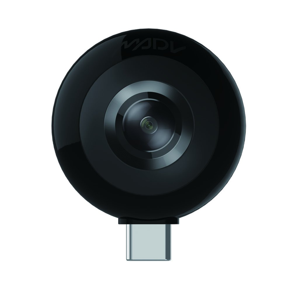 MADV Mini 360 Camera, 13MP/5.5K Photo, HD Video, Live Stream Enabled, Android Version USB Type C (No Battery Required)